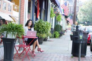 Photo of Rachel Frentsos in downtown Annapolis